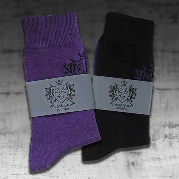 Purple and Black Socks 4