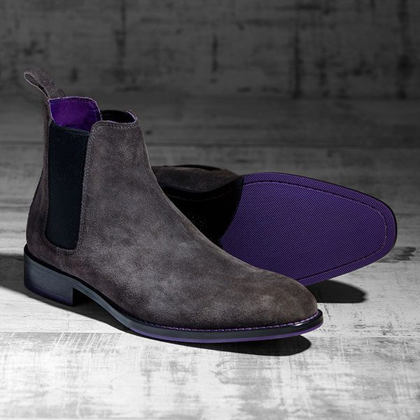 Italian Suede Leather Charcoal Chelsea Boot - Atlas 1