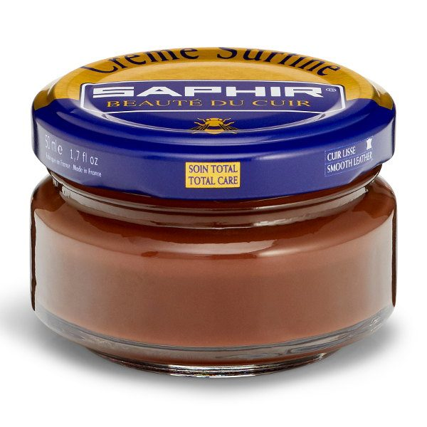 Creme Surfine Pommadier Protective Leather Wax – Medium Brown